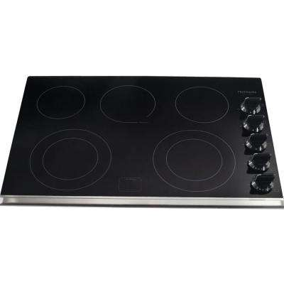 30 in. Ceramic Glass Electric Cooktop in Black with 5 Elements including a Warming Zone