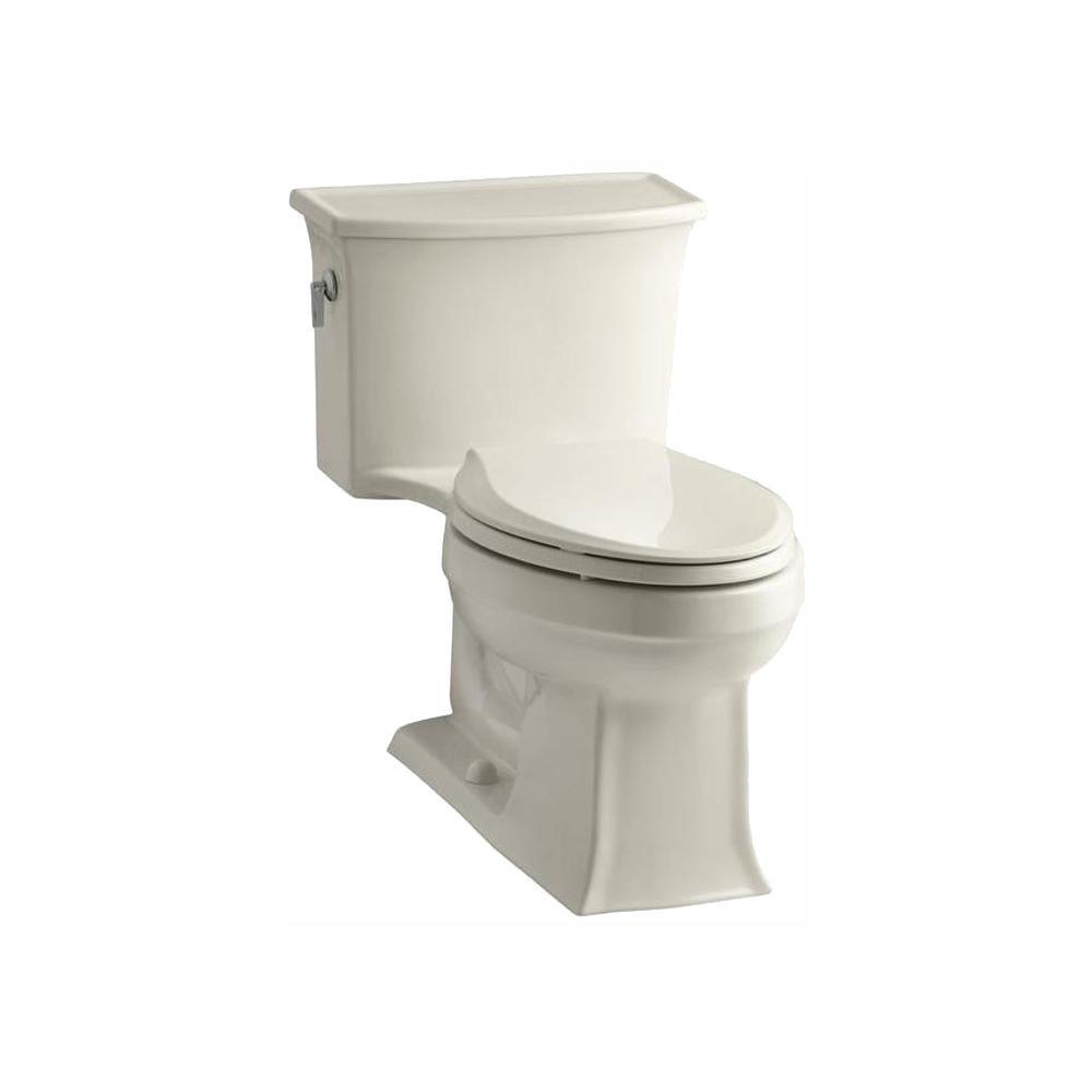 Archer 1-piece 1.28 GPF Single Flush Elongated Toilet in Almond