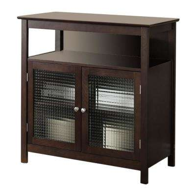 Walnut Finish Wood Storage Console / TV Stand