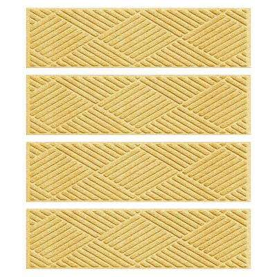 Yellow 8.5 in. x 30 in. Diamonds Stair Tread Cover (Set of 4)