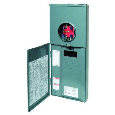 Homeline 100 Amp 8-Space 16-Circuit Outdoor Ringless-Horn Overhead/Underground Main Breaker CSED