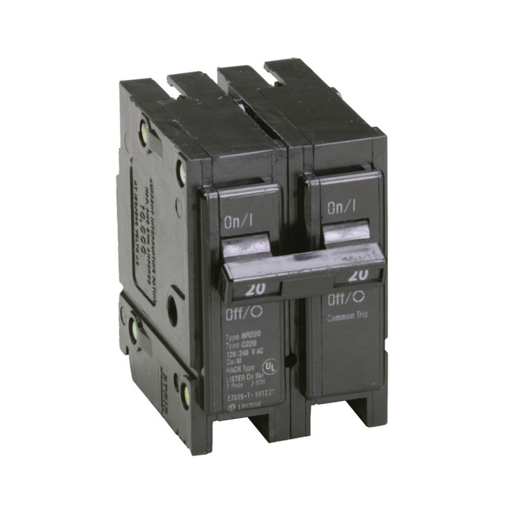 Eaton Br 20 Amp 2 Pole Circuit Breaker Br220 The Home Depot