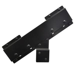 Connector for Steel Stair Stringer black (Includes 1 Connector for Stair Riser)