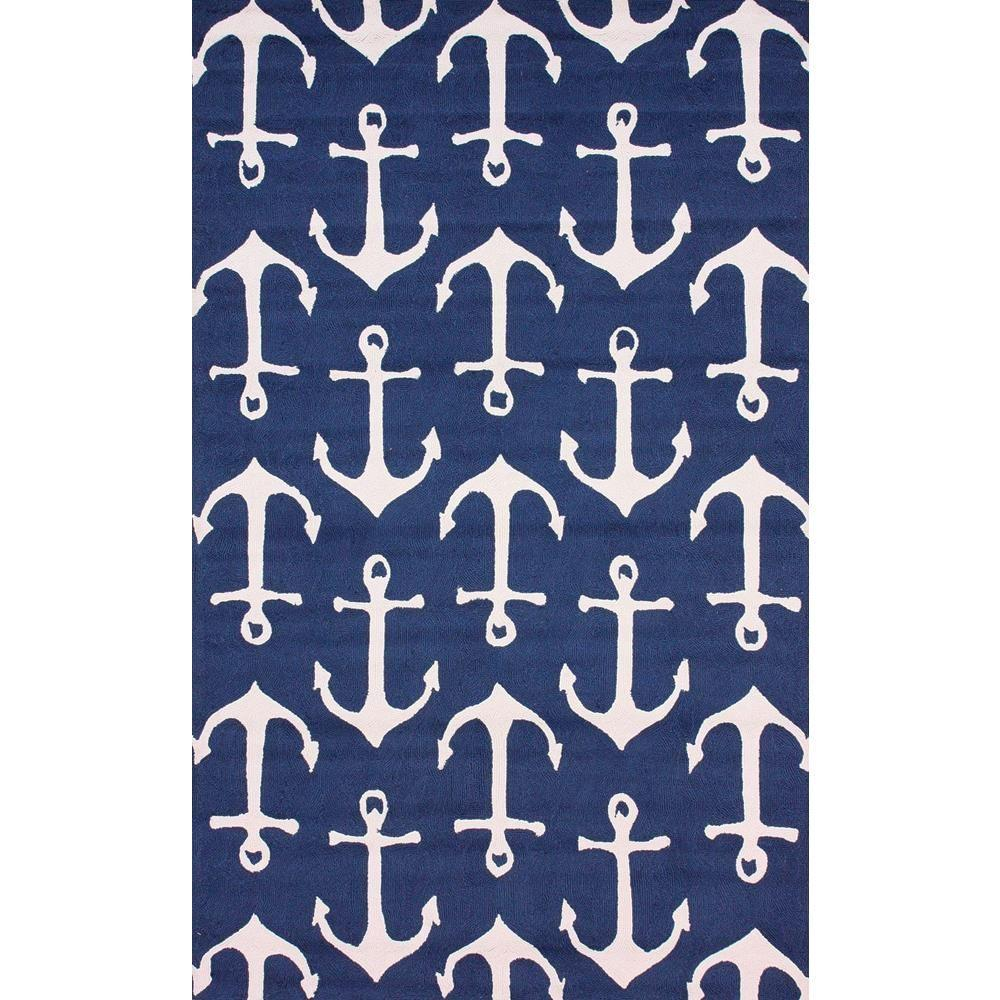 Nuloom Despina Navy 5 Ft X 8 Ft Indoor Outdoor Area Rug Hjair16b