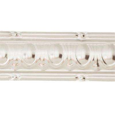48 in. Huron Tin Crown Molding in Clear