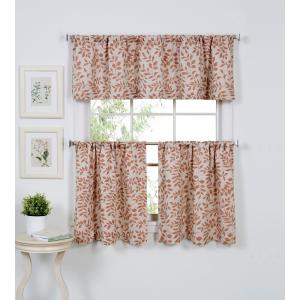 Serene 60 inch W x 15 inch L Cotton Single Window Curtain Valance in Spice by