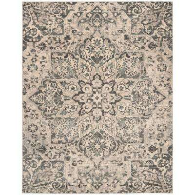 Carmel Ivory/Gray 9 ft. x 12 ft. Area Rug