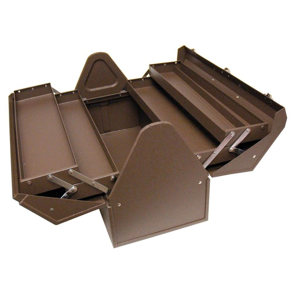 Steel Tool Box, Brown Wrinkle BW00210220   The Home Depot