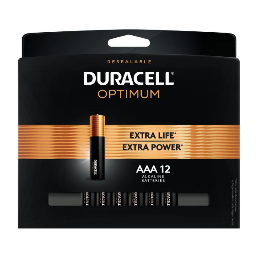 Duracell Optimum AAA Alkaline Battery (12-Pack)