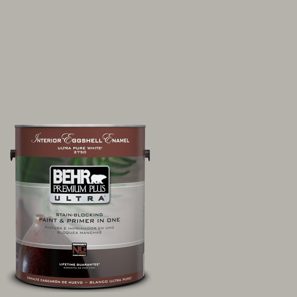 BEHR Premium Plus Ultra 1-Gal. #UL200-7 Silver Tinsel Interior Eggshell Enamel Paint