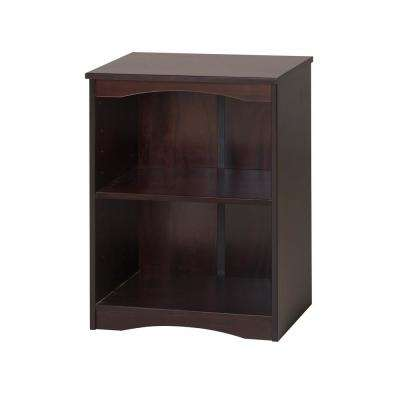 Essentials Cappuccino 23 in. W Wooden Bookcase