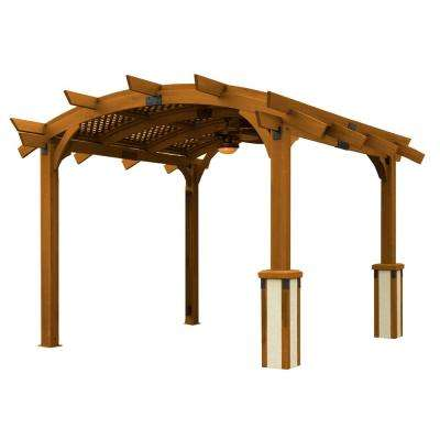 Sonoma 12 Ft. X 12 Ft. Redwood Douglas Fir Arched Pergola Awesome Ideas