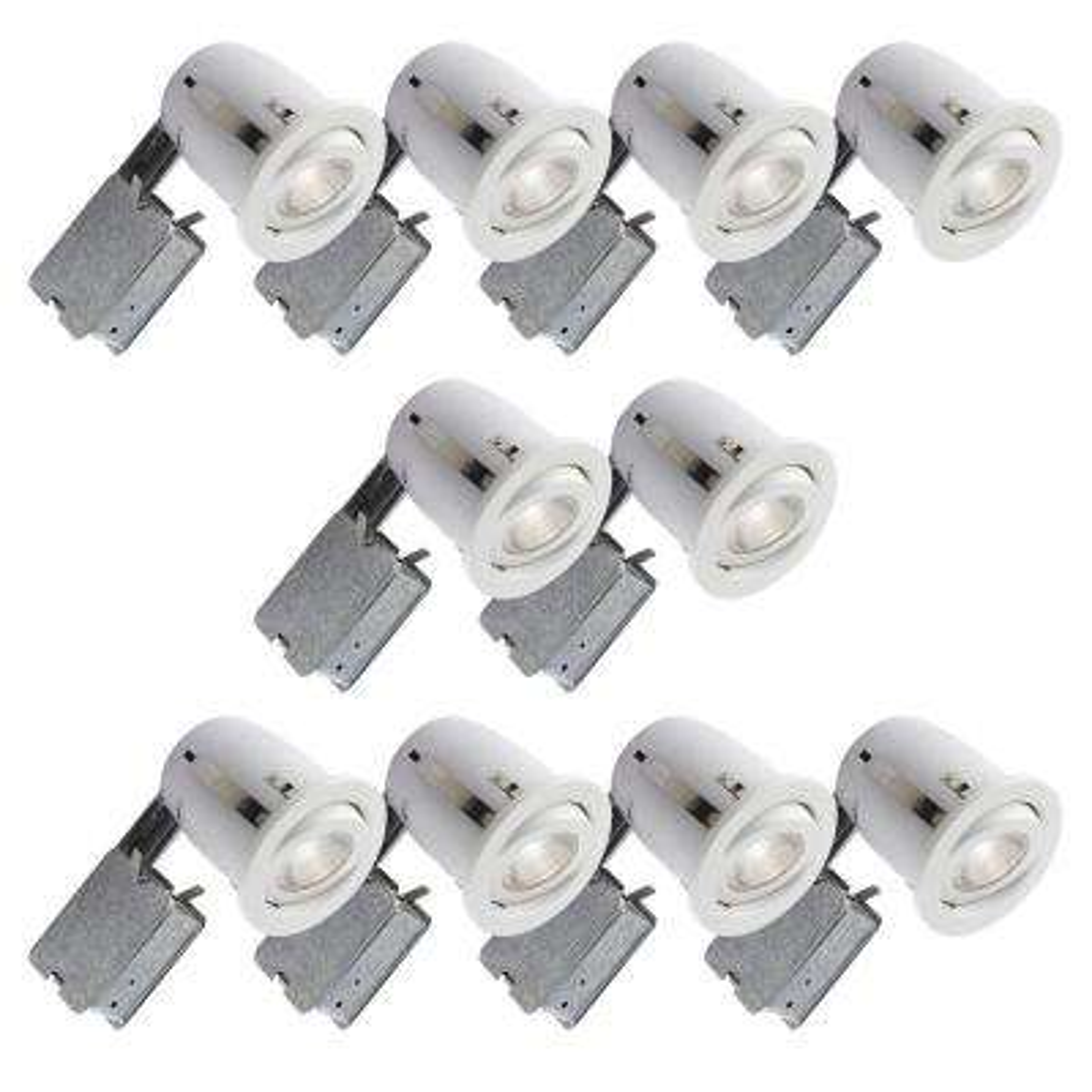 500 Series 4 in. White Recessed Halogen Lighting Kit (10-Pack)
