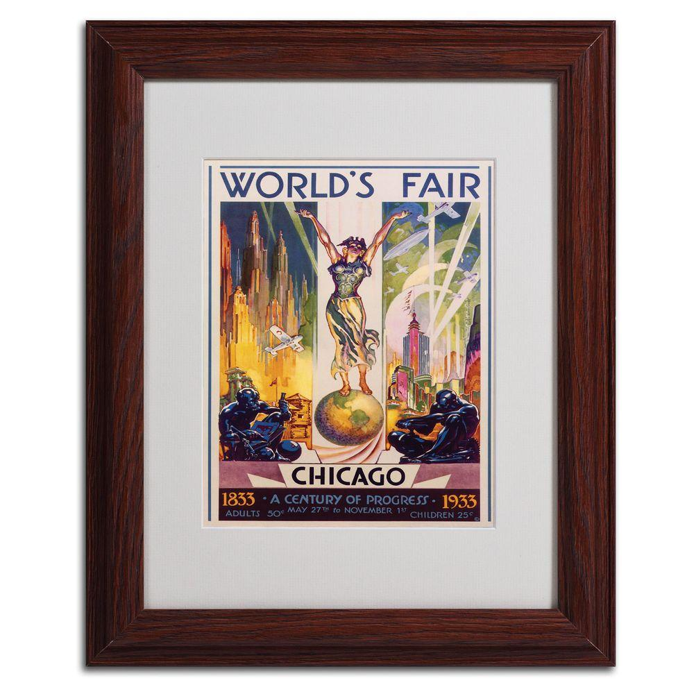 11 in. x 14 in. Worlds Fair Chicago Matted Framed Art
