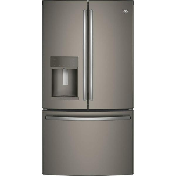 GE Adora 27.8 cu. ft. French Door Refrigerator with Hands Free Autofill in Slate, Fingerprint Resistant and ENERGY STAR