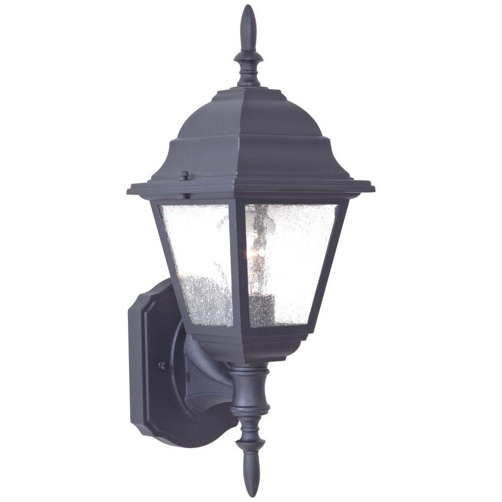 the great outdoors by Minka Lavery Bay Hill Wall-Mount 1-Light Black Outdoor Lantern
