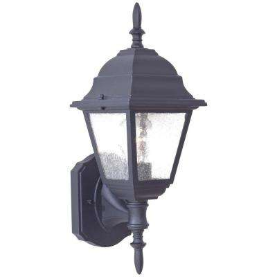 Bay Hill Wall-Mount 1-Light Black Outdoor Wall Lantern Sconce