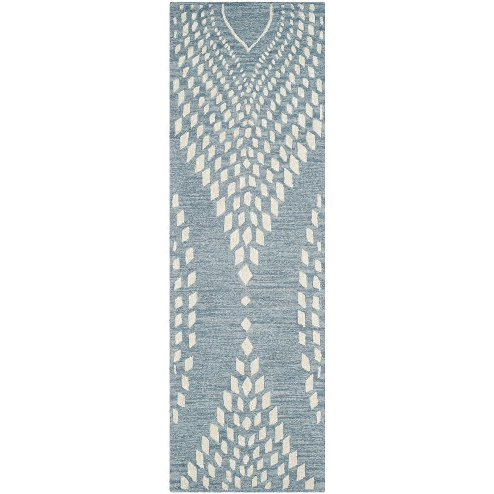 Bella Blue/Ivory 2 ft. 3 in. x 7 ft. Runner