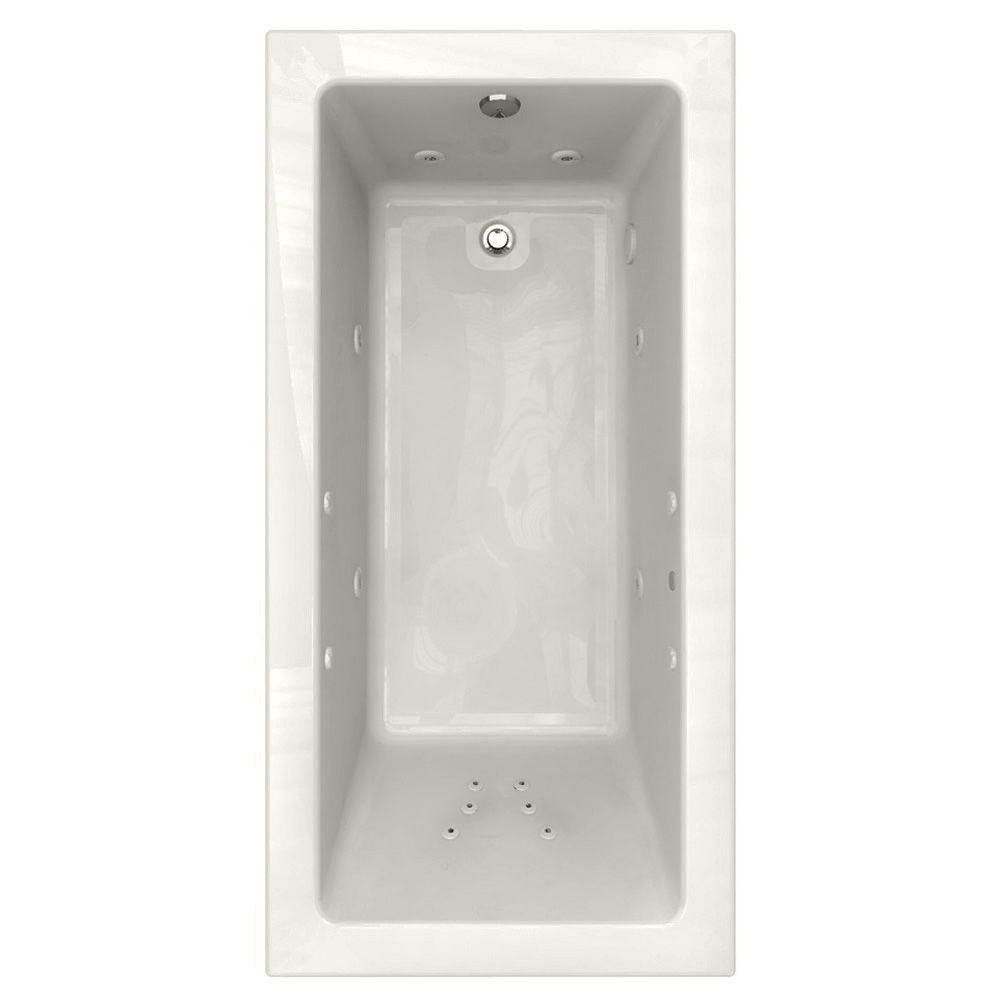 American Standard Studio Ecosilent Chromatherapy Integral Tile Flange 6 ft. x 36 in. Whirlpool Tub with Left Drain in White