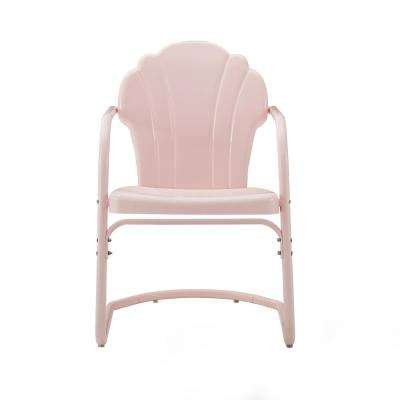 Tulip Pink Metal Outdoor Lounge Chair (2-Pack)