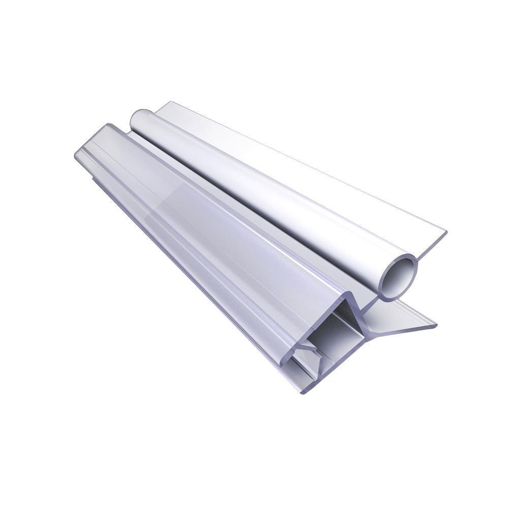 Length 35inch 10mm HOMEWAY 2PCS Shower Door Bottom Seal-Glass Door Vinyl Bottom Seal for 3//8inch Glass Thickness Transparent