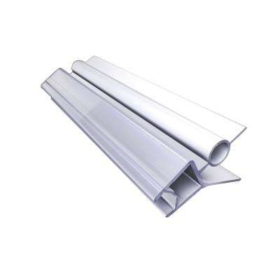 42 in. L Clear Bottom Vinyl Sweep with a Deflector for 5/16 in. (8 mm) Glass Shower Door