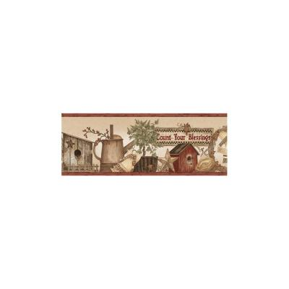 Abraham Wheat Count Blessings Portrait Wallpaper Border Sample