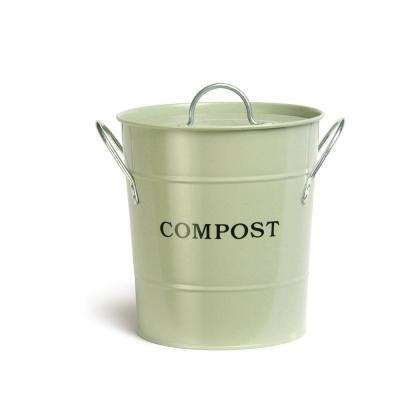 2-in-1 Apple Green Lid with Rubber Seal Compost Bucket
