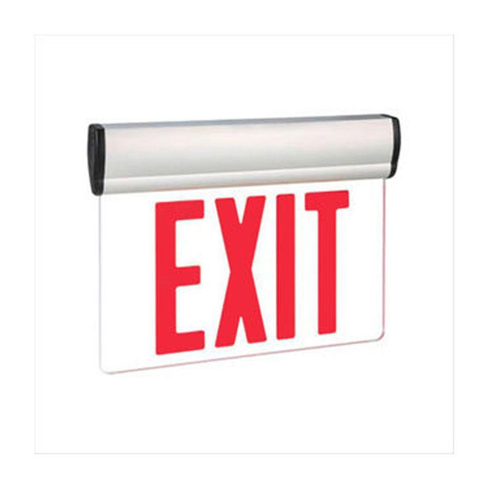 Filament Design Nexis 1-Light Die Cast Aluminum LED Single Face Edgelit Emergency Exit Sign