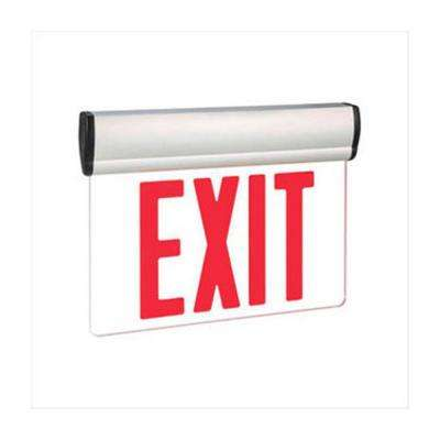 Nexis 1-Light Die Cast Aluminum LED Single Face Edgelit Emergency Exit Sign