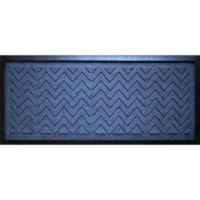 Navy 15 in. x 36 in. x 0.5 in. Chevron Boot Tray