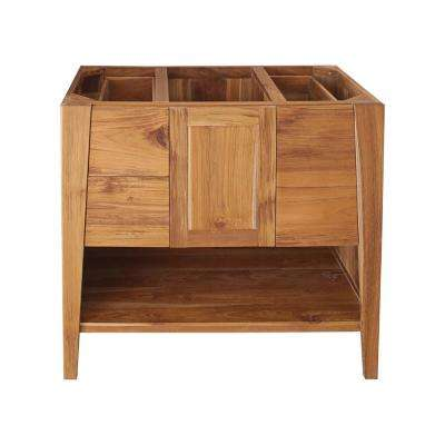 Significado 36 in. L Teak Vanity Cabinet Only in Natural Teak