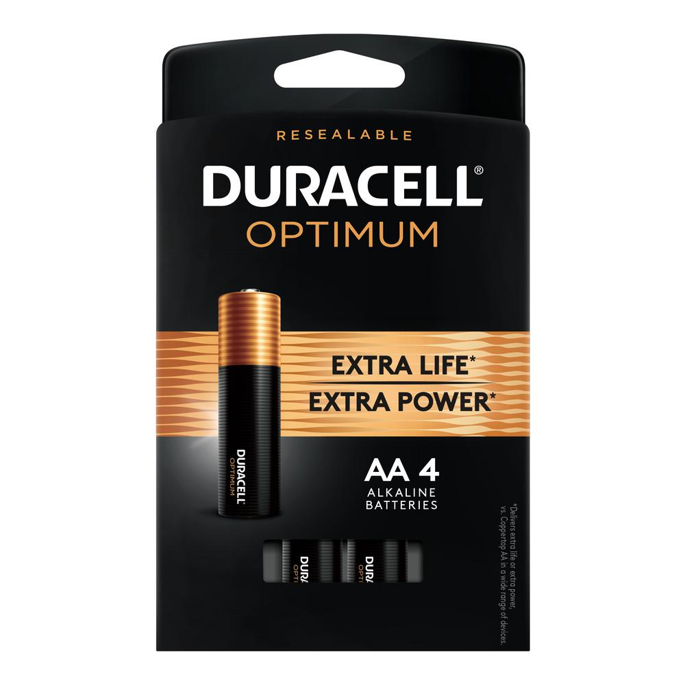 Duracell Optimum AA Alkaline Battery (4-Pack)