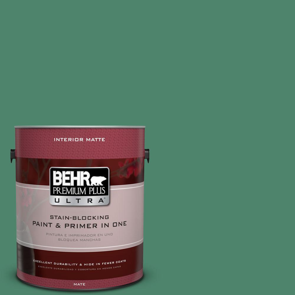 BEHR Premium Plus Ultra 1 gal. #480D-6 Billiard Room Flat/Matte Interior Paint