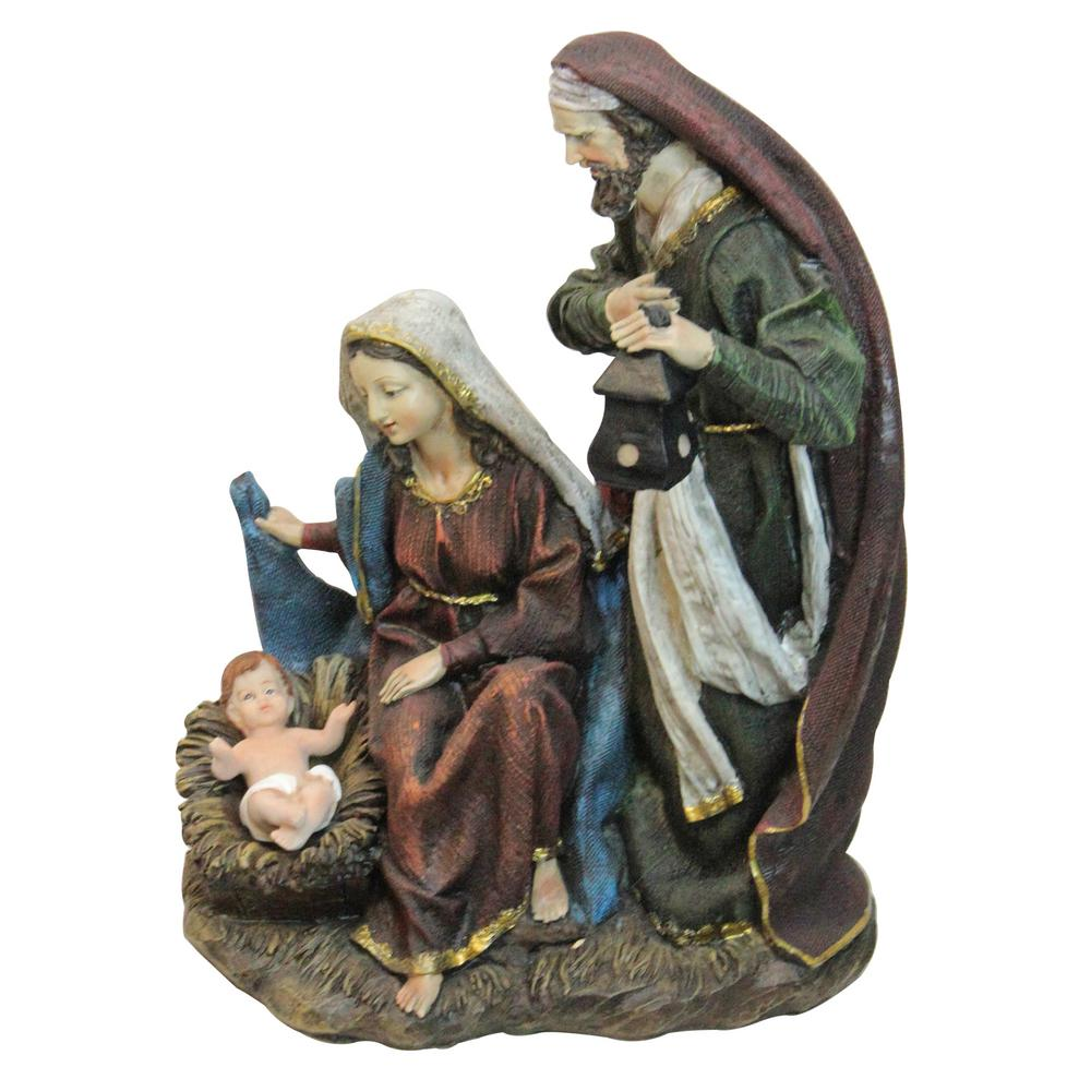 14 in. Silent Night Polyresin Holy Family Nativity Decorative Figurine