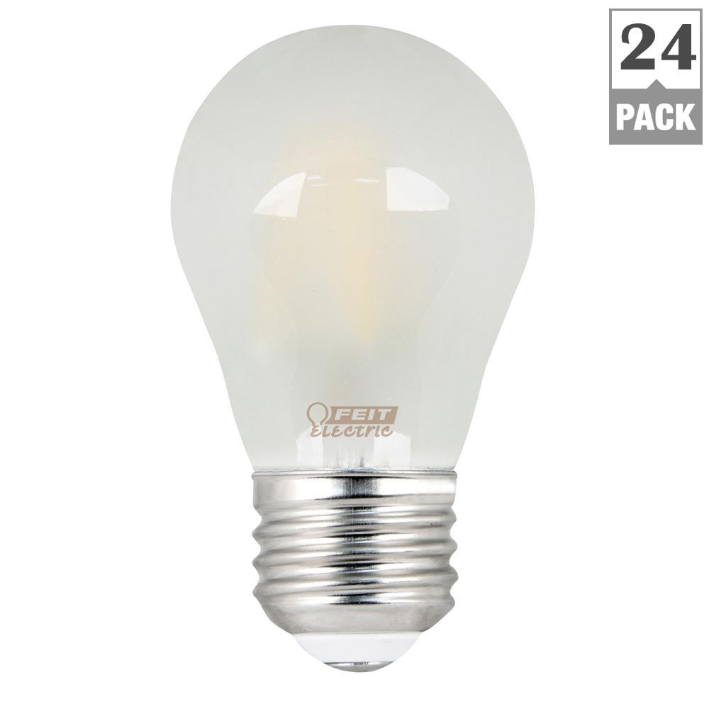40W Equivalent Soft White A15 Dimmable Frosted Filament LED Medium Base