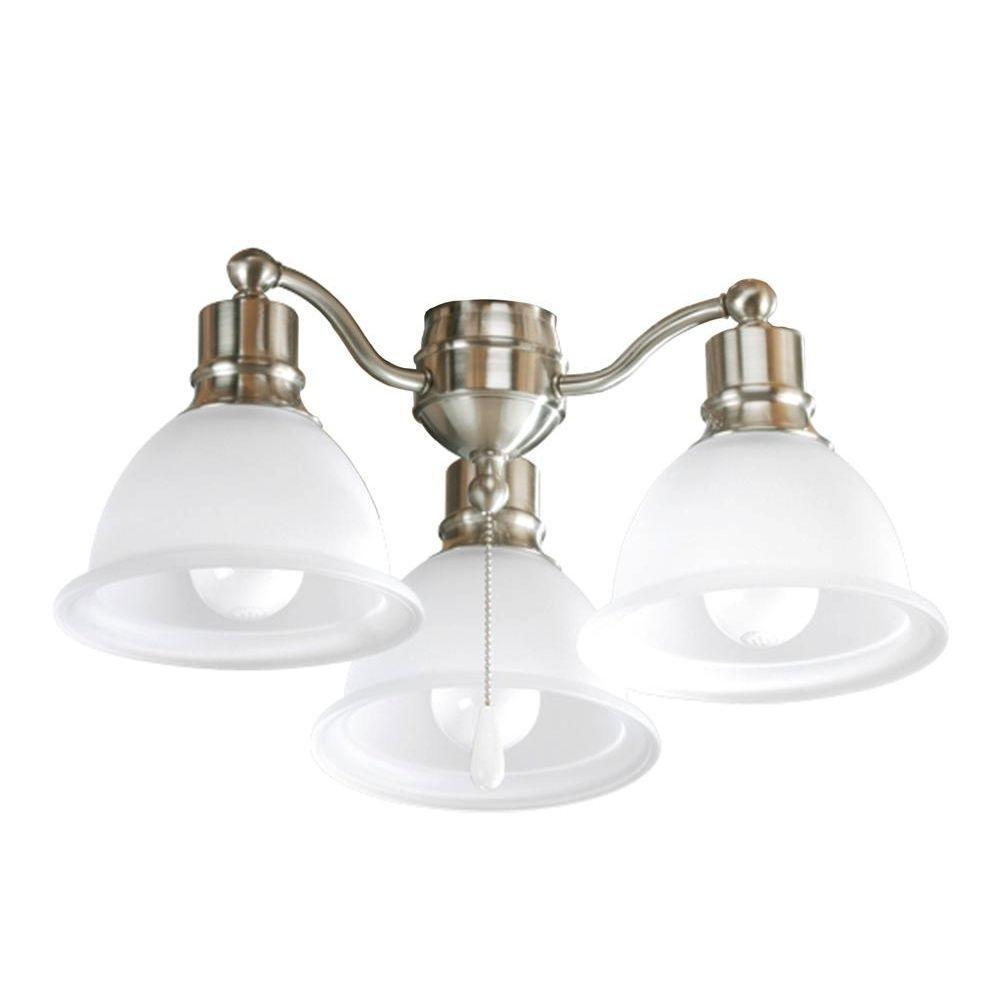 Progress Lighting Madison Collection 3 Light Brushed Nickel Ceiling Fan