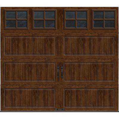 Gallery Collection 8 ft. x 7 ft. 18.4 R-Value Intellicore Insulated Ultra-Grain Walnut Garage Door with SQ22 Window