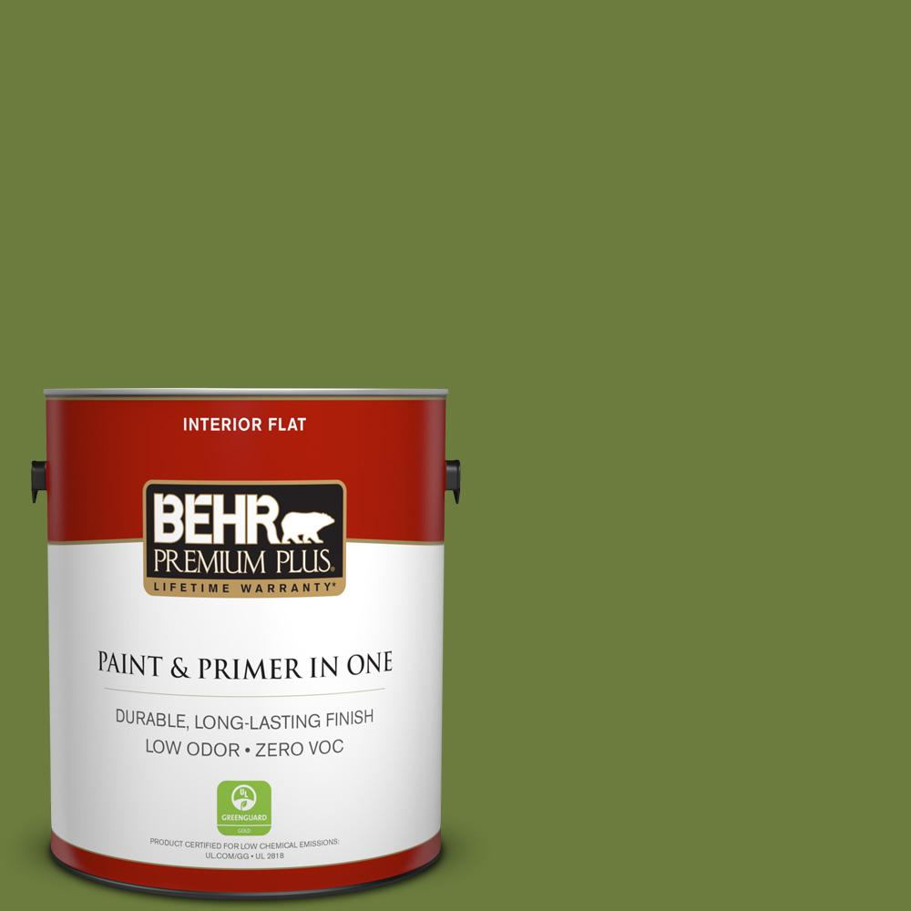 1 gal. #HDC-SM16-11 Hot Dog Relish Zero VOC Flat Interior Paint