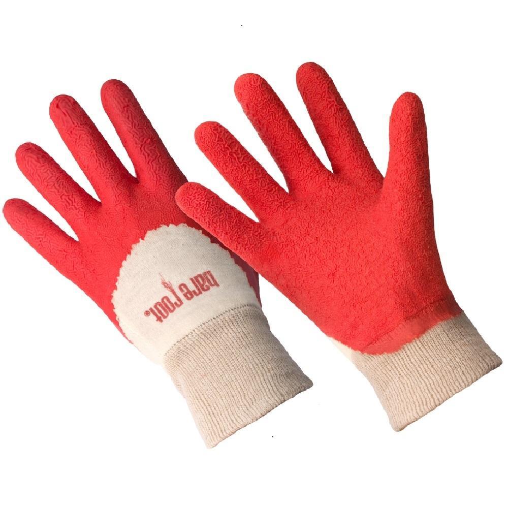 Ladies Premium Medium/Large Tangerine Latex Coated Gloves