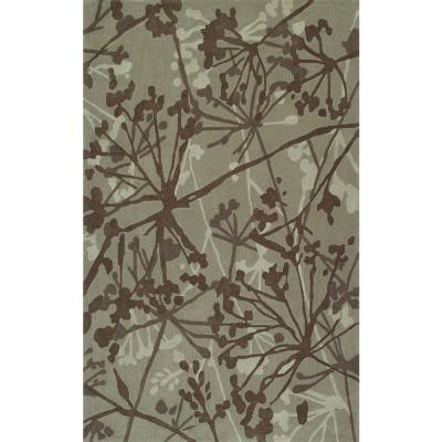 Nero 54 Abstract Floral Taupe 5 ft. x 7 ft. 6 in.Area Rug