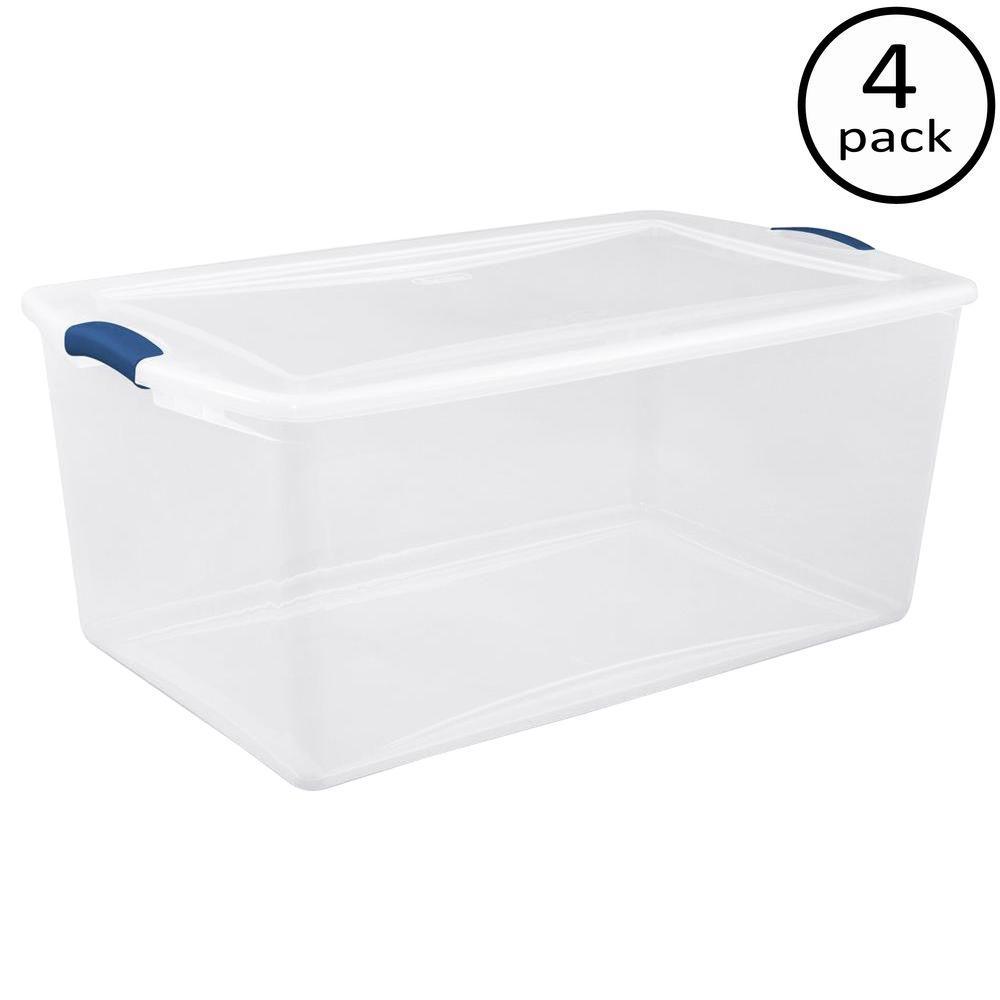 Sterilite 105-Qt. Latch Box (4-Pack)