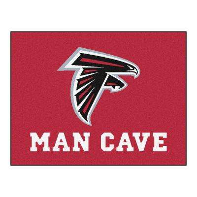 Atlanta Falcons Red Man Cave 3 ft. x 4 ft. Area Rug