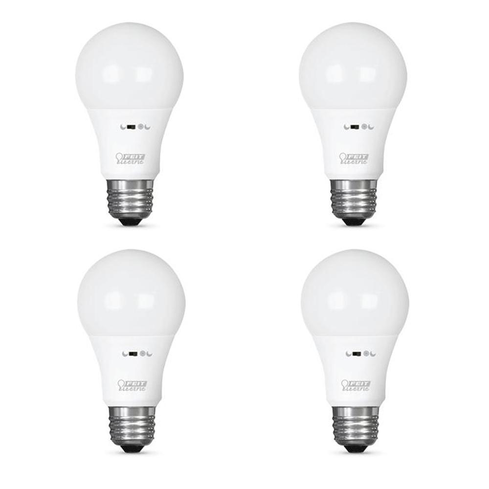 40-Watt Equivalent Soft White (2700K) A19 IntelliBulb Motion Activated LED Smart Light Bulb (4-Pack)