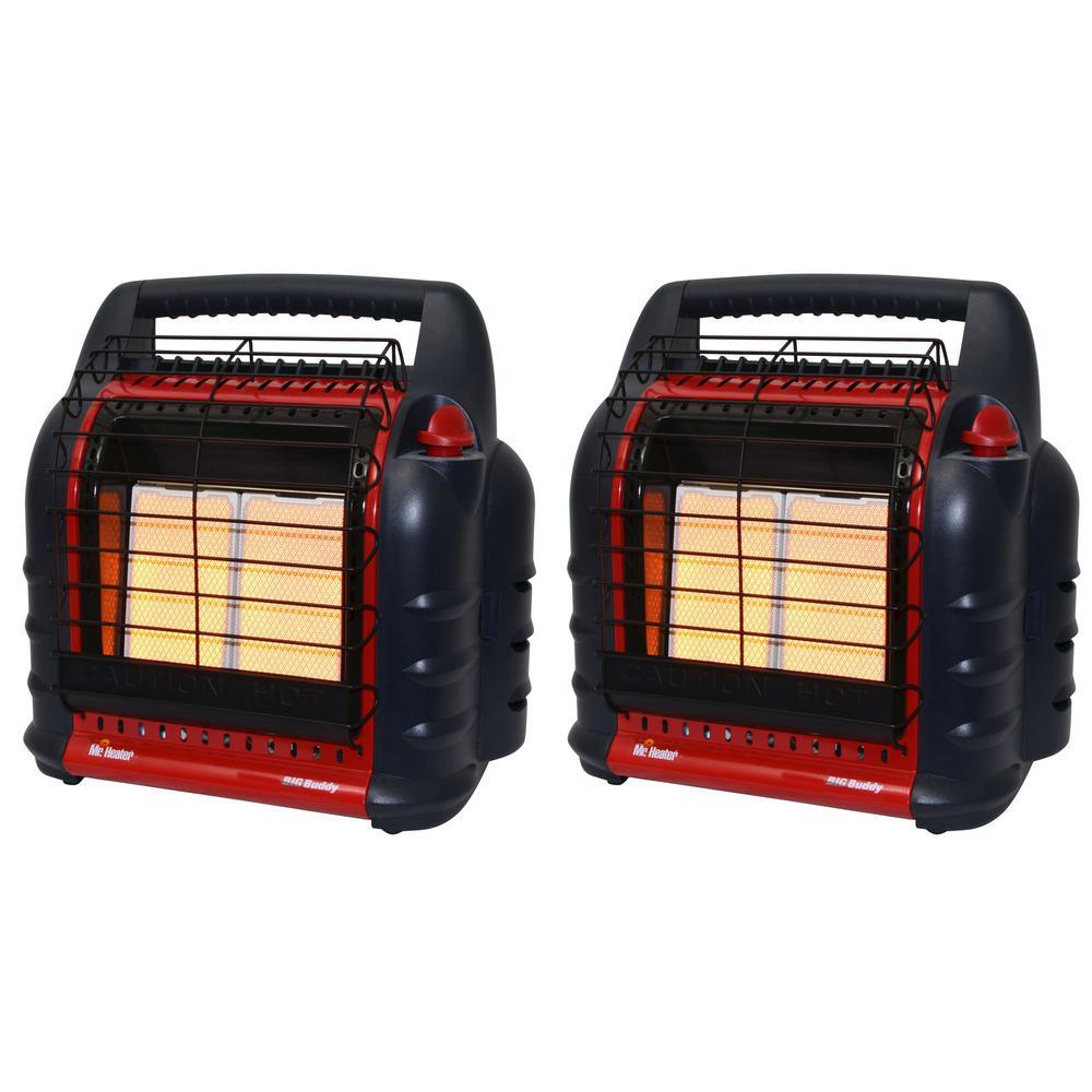 18000 BTU Big Buddy Portable Propane Space Heater (2-Pack)