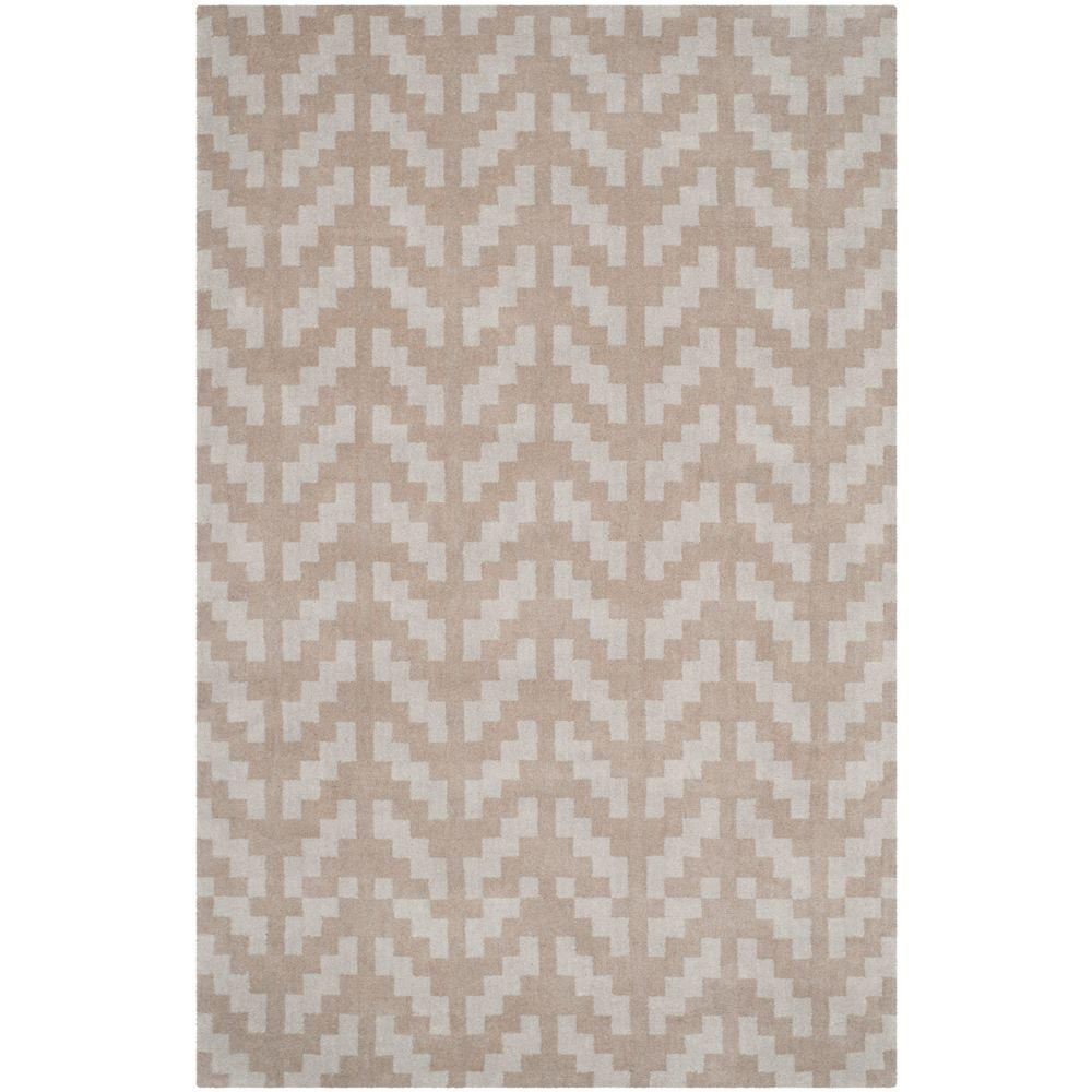 Cambridge Gray/Taupe 5 ft. x 7 ft. Area Rug