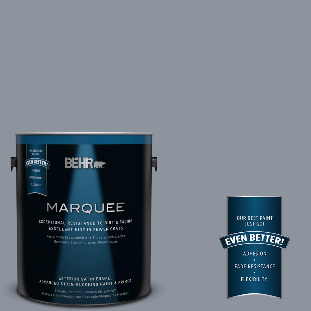 BEHR MARQUEE 1-gal. #BXC-88 Cool December Satin Enamel Exterior Paint