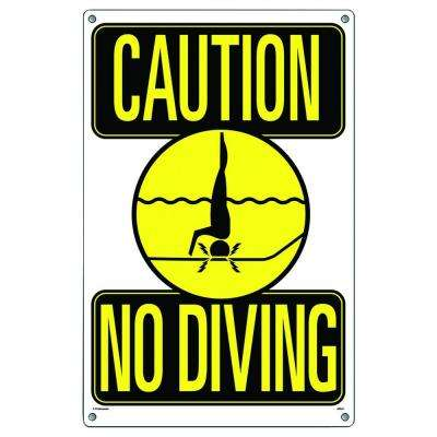Caution No Diving Swimming Pool Sign