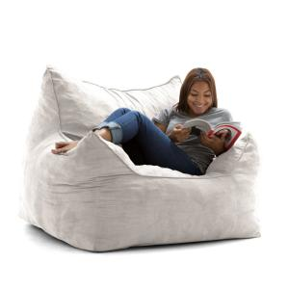 Pleasing Big Joe Imperial Lounger Shredded Ahhsome Foam Cement Creativecarmelina Interior Chair Design Creativecarmelinacom