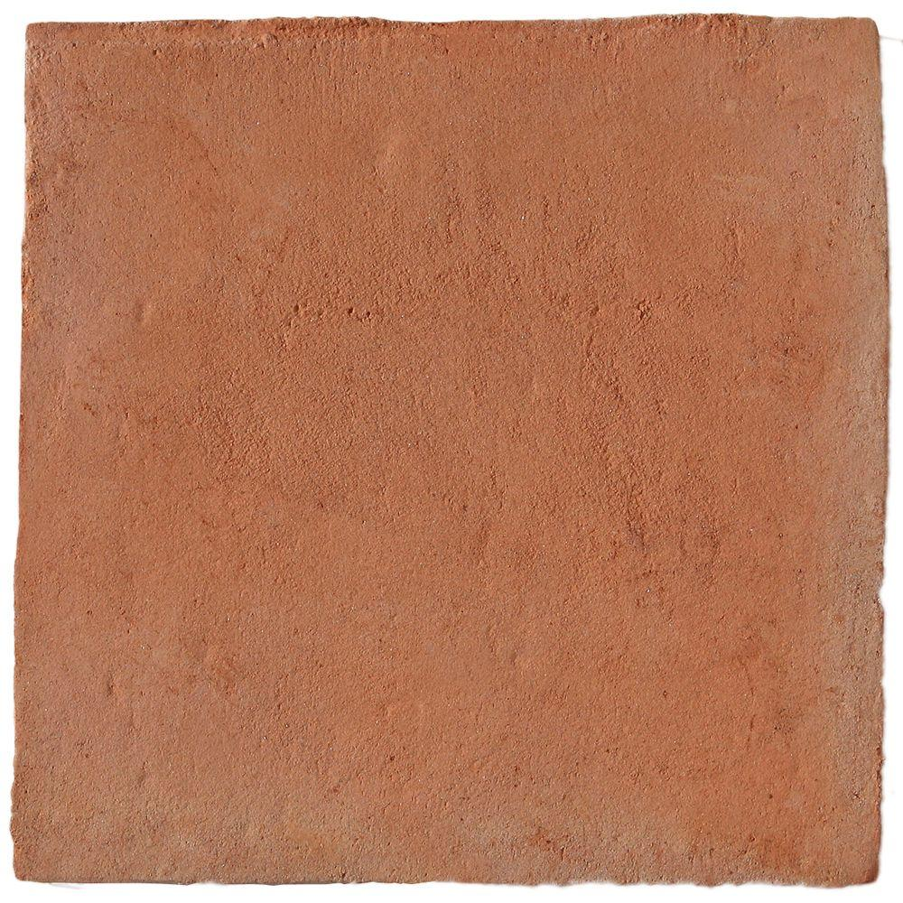 Solistone Hand Made Terra Cotta Cuadrado 12 in. x 12 in. Floor and Wall Tile (5 sq. ft. / case)